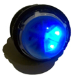 High Intesity Micro Rotating LED Flasher Blue